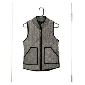 Herringbone vest with pockets in XS